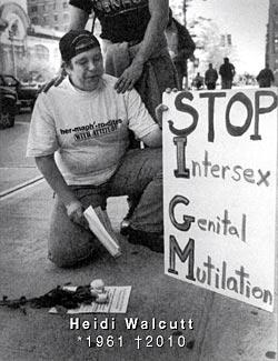 Heidi Walcutt (1997): 'STOP Intersex Genital Mutilation'